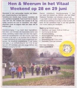 2014 Ulftse Krant mei 2014 - Hen & Weerum in het Vitaal Weekend